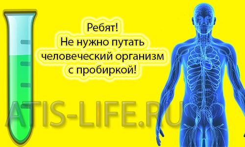 Человеческий организм — это не пробирка и не аккумулятор