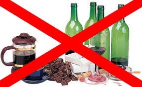 избегайте алкоголь